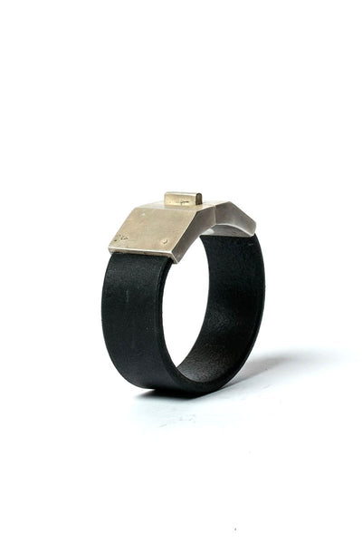 PARTS OF 4 SHOP ONLINE Box Lock Bracelet | Facet | Narrow | BLK+AS