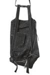 BLACK LEATHER RUCKSACK