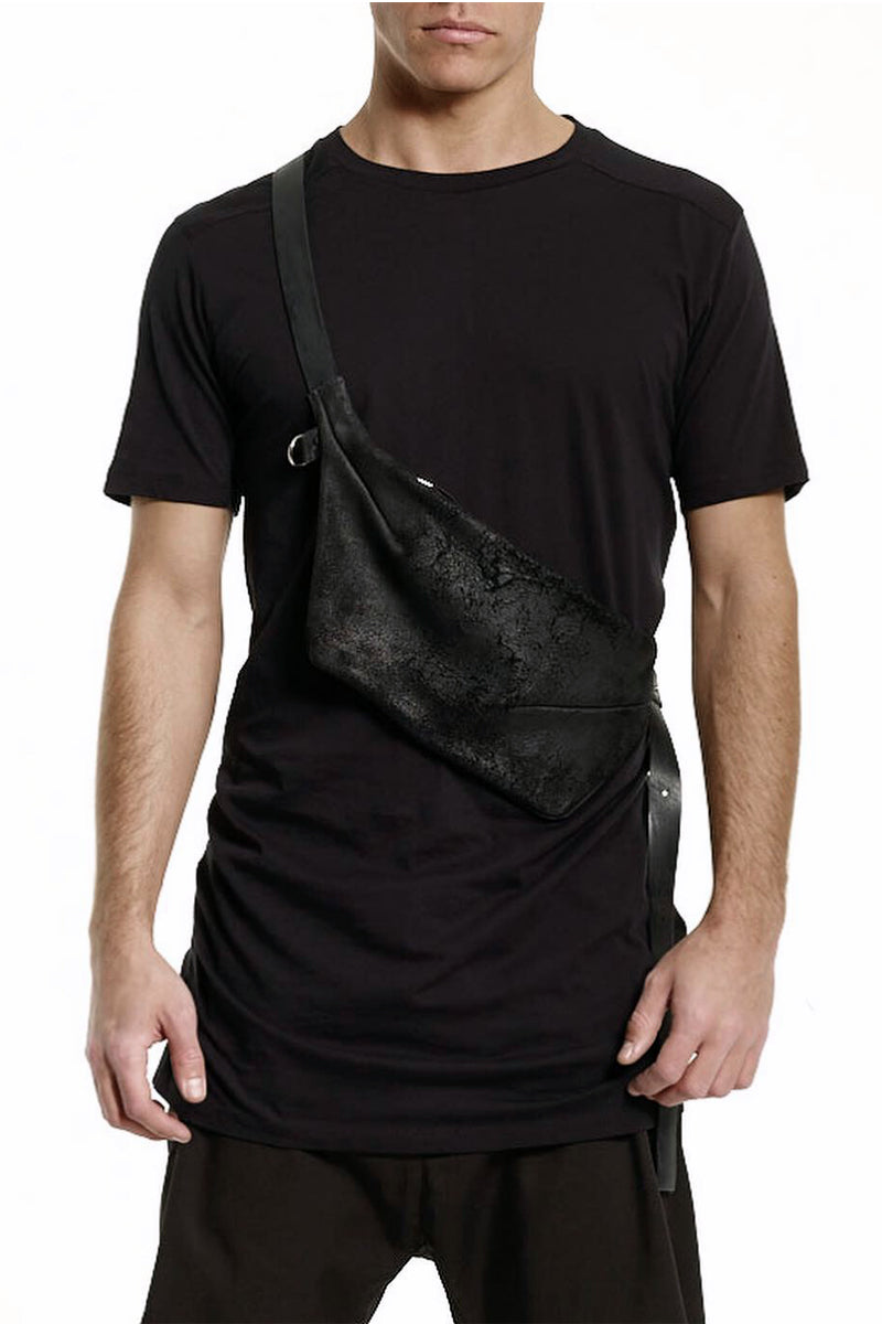 Reversed Leather Fanny Pack