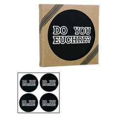 Do You Euchre - Recycled Drink Coasters 4 Pack