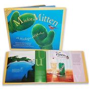 M is for Mitten - A Michigan Alphabet 978-1-886947-73-3 written by Annie Appleford / poems by Kathy-jo Wargin / illustrations by Michael Glenn Monroe