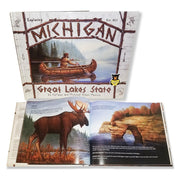 Exploring Michigan Great Lakes State Children's Book 978-0-9754942-2-6 written by Colleen and Michael Glenn Monroe
