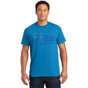 American Brain Tumor Association - Sapphire DryBlend 50/50 T-Shirt with Large ABTA on Front