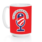 15 oz. Coffee Mug w/Red VR Microphone Logo Wrap