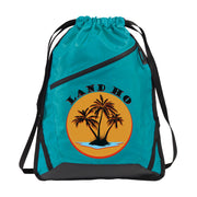 Zip-It Cinch Pack/Draw String Tropic Blue Bag | Land Ho