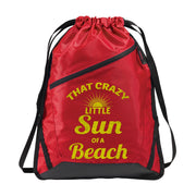 Zip-It Cinch Pack/Draw String Red Bag | Sun Of A Beach
