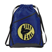 Zip-It Cinch Pack/Draw String True Royal Bag | Surf Zone