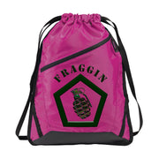 Zip-It Cinch Pack/Draw String Bag | Fraggin - Pink Azalea