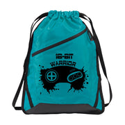 Zip-It Cinch Pack/Draw String Bag in Tropic Blue | 16-Bit Warrior