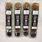 Assorted Milk and Dark Chocolate Covered Coffee Beans - 4 Sleeves