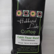 Cabin Fever Blend Coffee 16 oz Bag available ground or whole bean