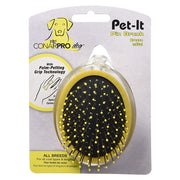 ConairPRO Dog PGRDPIPBM Pet-It Metal Pin Brush with palm petting grip
