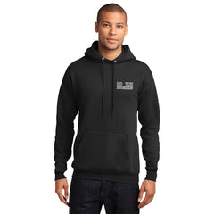 Men's Black Hooded Sweatshirt - Do You Euchre on Front
