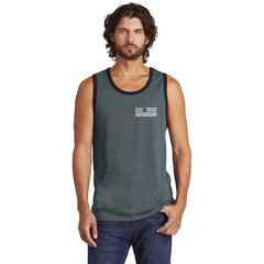 Men's Charcoal Grey Alt Rebel Tank Top - Do You Euchre on Front