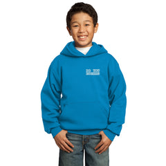 """Do You Euchre"" Youth Euchre Hoodie Light Blue Front"