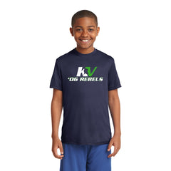 Youth Short Sleeve Performance Wear Navy T-Shirt - Front