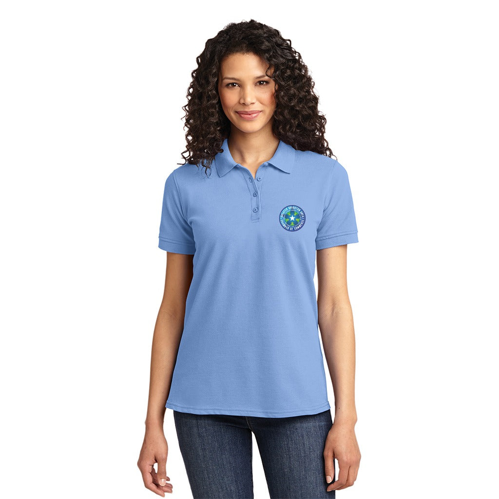 Ladies  Polo Shirt with Greater Brighton Chamber of Commerce Logo - Light  Blue ... 63f874788dc