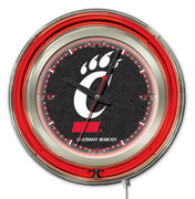 University of Cincinnati Neon Clock - Bearcats Logo