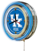 University of Kentucky Neon Clock - UK Logo