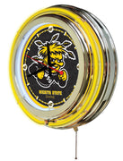 Wichita State University Neon Clock - Shockers Logo