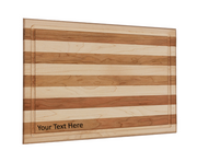 Maple and Cherry Cutting Board with Custom Text