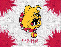 Ferris State University Canvas - Bulldogs Logo