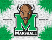 Marshall University Canvas - The Thundering Herd Logo