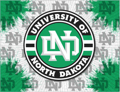 University of North Dakota Canvas - Fighting Hawks Logo