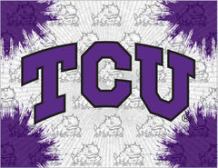 Texas Christian University Canvas - Horned Frogs Logo