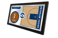 Brigham Young University Basketball Mirror - Cougars Logo