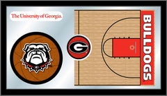 University of Georgia Basketball Mirror - Bulldogs Logo