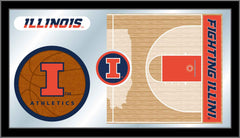 University of Illinois (UIUC) Basketball Mirror - Fighting Illini Logo