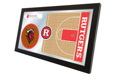 Rutgers University Basketball Mirror - Scarlet Knights Logo
