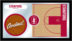 Stanford University Basketball Mirror - Cardinal Logo
