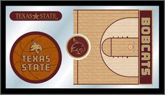 Texas State University Basketball Mirror - Bobcats Logo