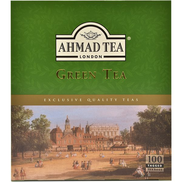 Green Tea Teabags (100 sachets), Ahmad Tea - Specialty Goodies