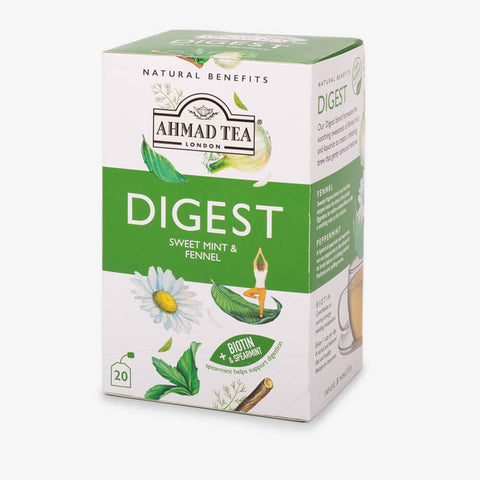 Natural Benefit-Digest (Sweet Mint & Fennel), Ahmad Tea - Specialty Goodies