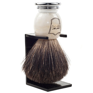 Black Badger Ivory Marbled Shave Brush