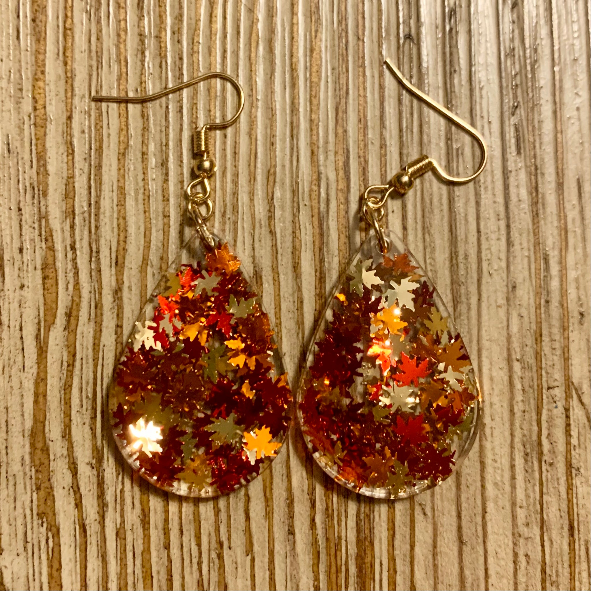 Fall Leaves Earrings - Small