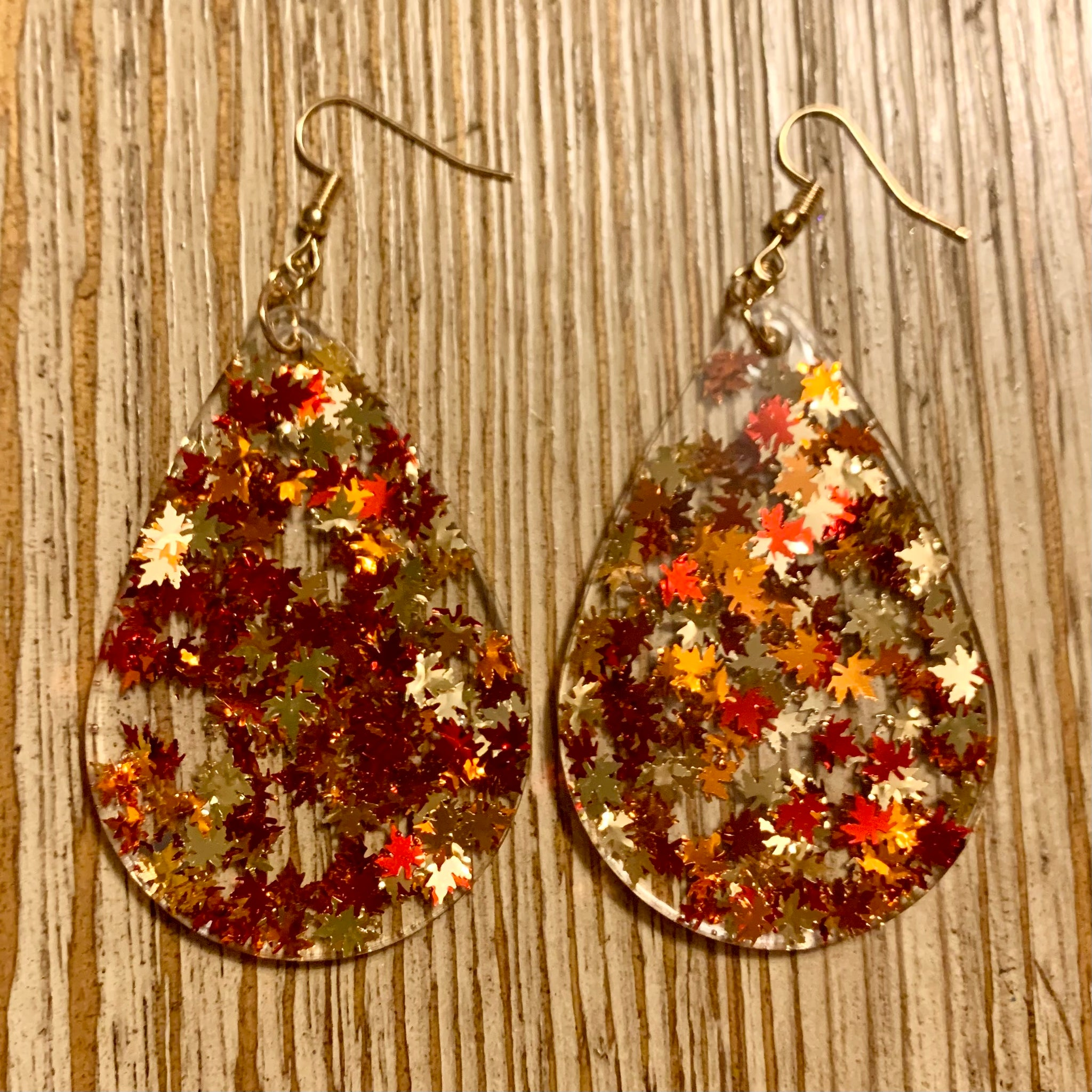 Fall Leaves Earrings - Large