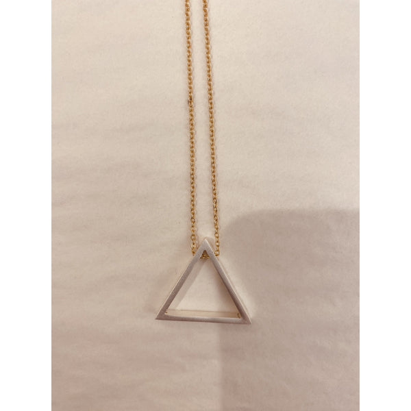 Mixed Metal Triangle Necklace