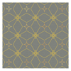 Home designer Tablecloths - Gold and Grey Star Pattern