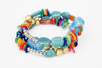 BEAD BRACELET CLEAR RAINBOW
