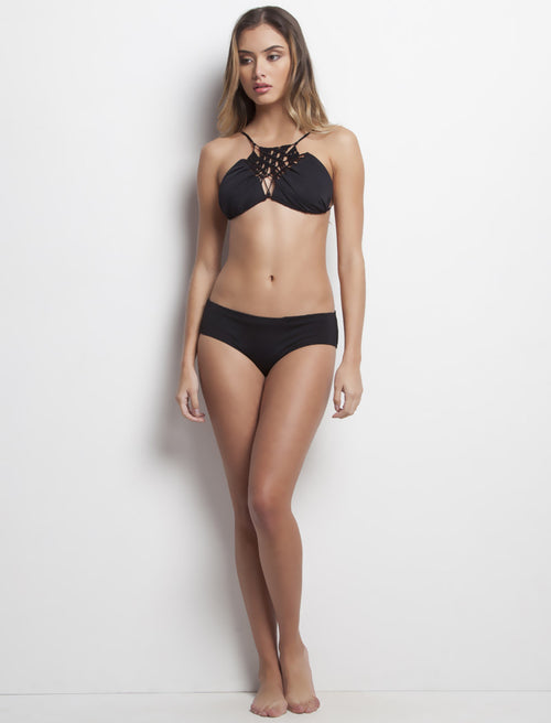 Black High Neck with Neckline & Panty