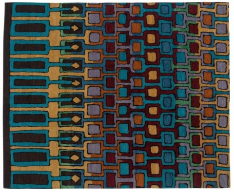 square colorful rug