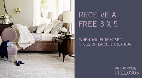 free 3x5 rug with purchase