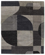 Cosmos Greyscale I, a hand knotted rug designed by Tufenkian Artisan Carpets.