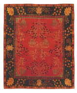 DONEGAL BRANCHES RUBY / DEEP PINE, a hand knotted rug designed by Tufenkian Artisan Carpets.