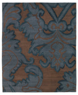 IMPLIED DAMASK MIDNIGHT is a hand knotted rug by Tufenkian Artisan Carpets