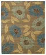 FLOWER POWER SEACOVE, a hand knotted rug designed by Tufenkian Artisan Carpets.